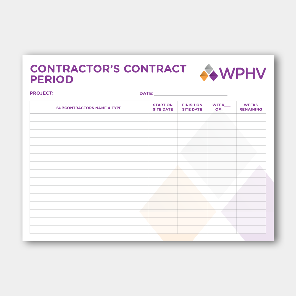 Works Partners Contract Period